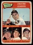 1965 Topps #5   -  Brooks Robinson / Mickey Mantle / Harmon Killebrew / Dick Stuart AL RBI Leaders Front Thumbnail