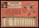 1969 Topps #205  Rick Reichardt  Back Thumbnail