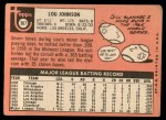 1969 Topps #367  Lou Johnson  Back Thumbnail