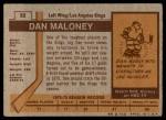 1973 Topps #32  Dan Maloney   Back Thumbnail