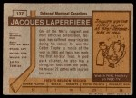 1973 Topps #137  Jacques Laperriere   Back Thumbnail