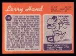 1970 Topps #149  Larry Hand  Back Thumbnail
