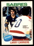 1975 O-Pee-Chee NHL #154  Larry Carriere  Front Thumbnail