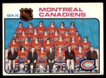 1975 O-Pee-Chee NHL #90   Canadiens Team Checklist Front Thumbnail