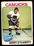 1975 O-Pee-Chee NHL #307  Gerry O'Flaherty  Front Thumbnail