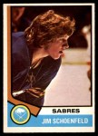 1974 O-Pee-Chee NHL #121  Jim Schoenfeld  Front Thumbnail
