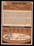 1974 O-Pee-Chee NHL #51  Bob Leiter  Back Thumbnail