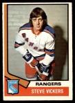 1974 O-Pee-Chee NHL #29  Steve Vickers  Front Thumbnail