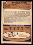 1974 O-Pee-Chee NHL #58  Pit Martin  Back Thumbnail