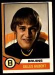 1974 O-Pee-Chee NHL #10  Gilles Gilbert  Front Thumbnail