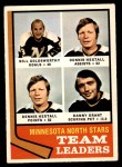 1974 O-Pee-Chee NHL #112   -  Bill Goldsworthy / Dennis Hextall / Danny Grant North Stars Leaders Front Thumbnail