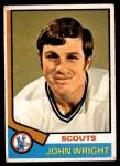 1974 O-Pee-Chee NHL #156  John Wright  Front Thumbnail