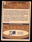 1974 O-Pee-Chee NHL #271  Larry Brown  Back Thumbnail