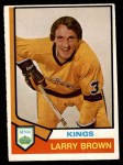 1974 O-Pee-Chee NHL #271  Larry Brown  Front Thumbnail
