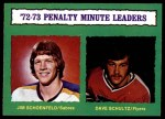 1973 O-Pee-Chee #137   -  Dave Schultz Penalty Minutes Leaders Front Thumbnail