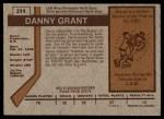 1973 O-Pee-Chee #214  Danny Grant  Back Thumbnail