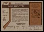 1973 O-Pee-Chee #224  Lou Angotti  Back Thumbnail