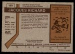 1973 O-Pee-Chee #169  Jacques Richard  Back Thumbnail
