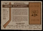 1973 O-Pee-Chee #250  Gerry O'Flaherty  Back Thumbnail