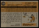 1960 Topps #140   -  Julio Navarro Rookie Star Back Thumbnail