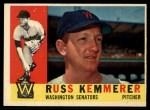 1960 Topps #362  Russ Kemmerer  Front Thumbnail