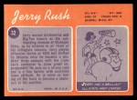 1970 Topps #32  Jerry Rush  Back Thumbnail