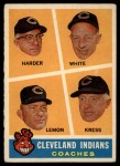1960 Topps #460   -  Mel Harder / Jo Jo White / Bob Lemon / Ralph Kress Indians Coaches Front Thumbnail