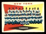 1960 Topps #332   Yankees Team Checklist Front Thumbnail