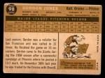1960 Topps #98  Gordon Jones  Back Thumbnail