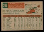 1959 Topps #266  Woodie Held  Back Thumbnail