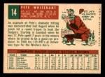 1959 Topps #14  Pete Whisenant  Back Thumbnail