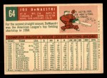 1959 Topps #64  Joe DeMaestri  Back Thumbnail