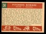 1959 Topps #34   -  Al Kaline / Charley Maxwell Pitchers Beware Back Thumbnail
