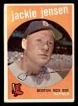 1959 Topps #400  Jackie Jensen  Front Thumbnail