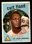 1959 Topps #353  Curt Flood  Front Thumbnail