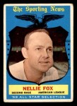 1959 Topps #556   -  Nellie Fox All-Star Front Thumbnail