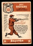1959 Topps #566   -  Roy Sievers All-Star Back Thumbnail