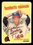 1959 Topps #366  Humberto Robinson  Front Thumbnail