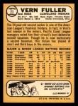1968 Topps #71  Vern Fuller  Back Thumbnail