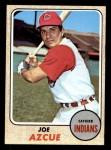 1968 Topps #443  Joe Azcue  Front Thumbnail