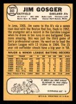 1968 Topps #343  Jim Gosger  Back Thumbnail