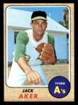 1968 Topps #224  Jack Aker  Front Thumbnail