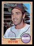 1968 Topps #550  Clete Boyer  Front Thumbnail