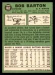 1967 Topps #462  Bob Barton  Back Thumbnail