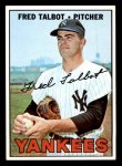 1967 Topps #517  Fred Talbot  Front Thumbnail