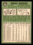 1967 Topps #600  Brooks Robinson  Back Thumbnail