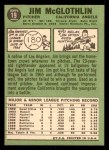 1967 Topps #19  Jim McGlothlin  Back Thumbnail