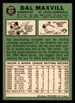 1967 Topps #421  Dal Maxvill  Back Thumbnail