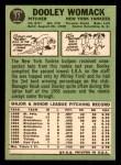 1967 Topps #77  Dooley Womack  Back Thumbnail
