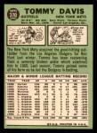 1967 Topps #370  Tommy Davis  Back Thumbnail